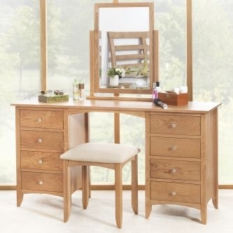 Edward Hopper Oak Dressing Table mirror