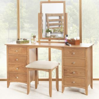 Edward Hopper Oak Dressing table set