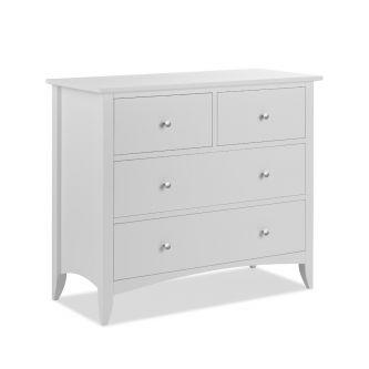 Edward Hopper 2 over 2 white chest of drawer
