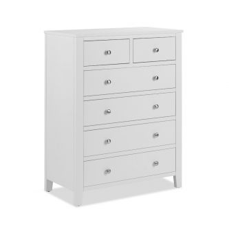 Brooklyn white 2 over 4 chest of drawers