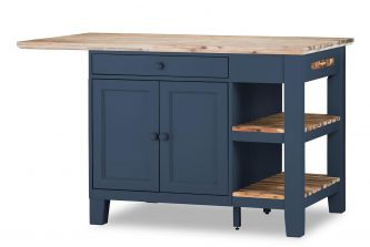 Florence Kitchen Island (Large) - Navy Blue