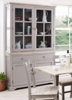 florence grey display cabinet