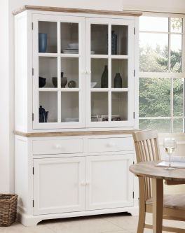 florence white display cabinet