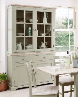 Florence Sage Green Display Cabinet