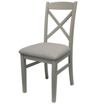 florence grey cross back chair