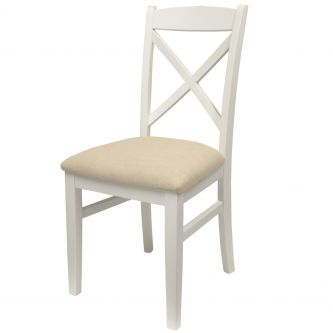 florence cross back chair front