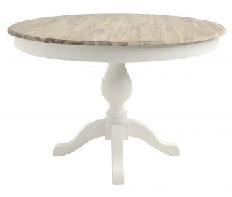 florence white pedestal round table