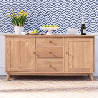 Edvard Olsen Sideboard 2 Door, 3Dr - Golden Oak