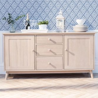 Edvard Olsen 3 Door Sideboard in Light Oak