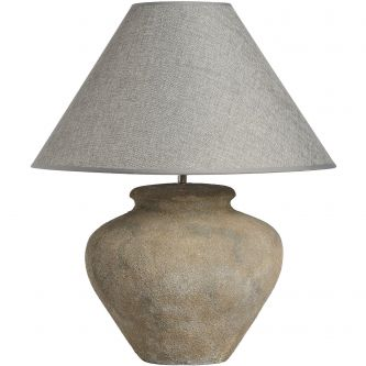 Antique Stone effect Ceramic Table Lamp