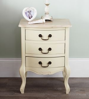 Juliette Shabby Chic Champagne bedside table