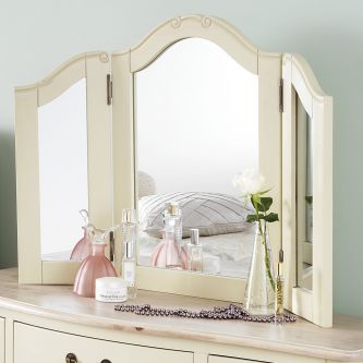 juliette champagne dressing table mirror