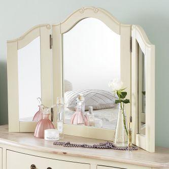 juliette champagne dressing table mirror