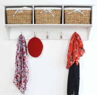 Tetbury Coat Hanger with 3 baskets