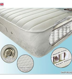 Imperial 4ft6 Pocket Sprung and Memory Foam Mattress