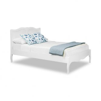 Romance True White 5ft Wooden King Size Bed Frame