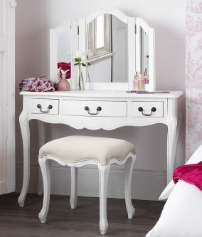 Juliette shabby chic white dressing table