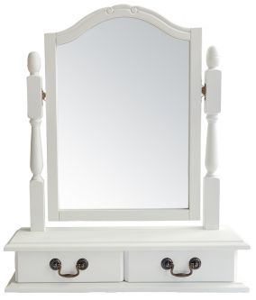 Juliette Antique White Trinket Mirror