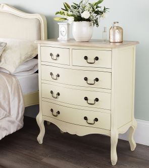 Juliette Shabby Chic Champagne Chest of drawers