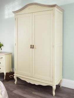 Juliette shabby chic champagne double wardrobe