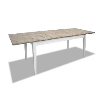 Florence white kitchen extending table