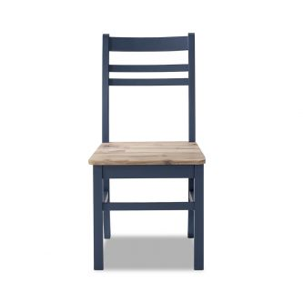 A navy blue country style kitchen and dining chair