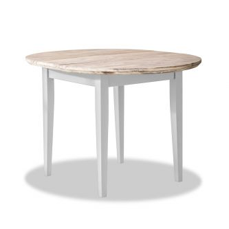 florence white round extending table
