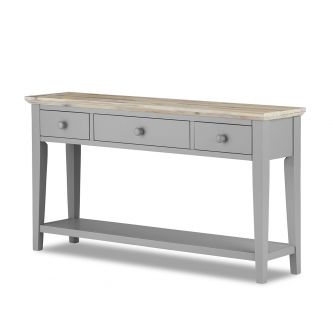 florence grey console table