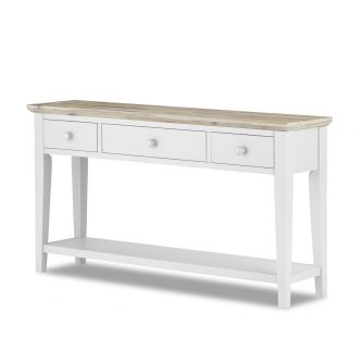florence white console table
