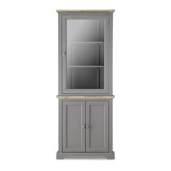 Florence grey corner display cabinet