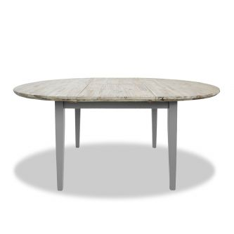 florence dove grey extending table top detail