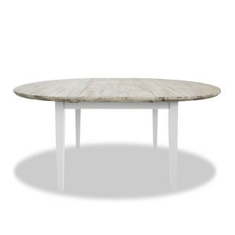Florence white extending table detail