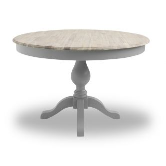 Florence Large Pedestal Round Dining Table (120cm) - Dove Grey