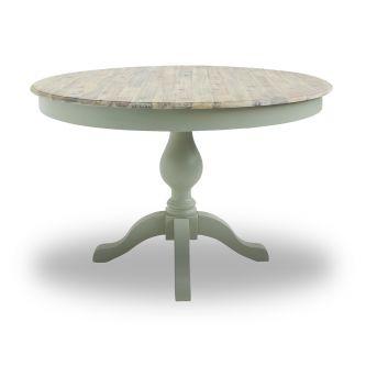 Florence Large Pedestal Round Dining Table (120cm) - Sage Green