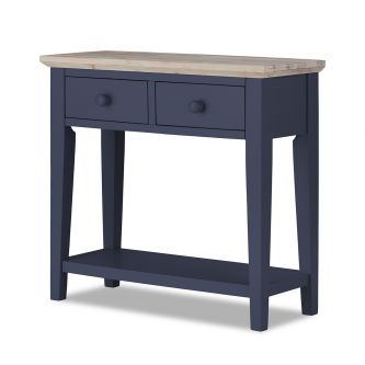 Florence Console Table with 2 Drawers - Navy Blue