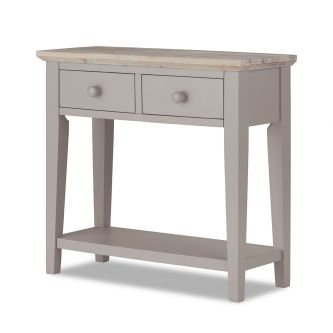 Florence truffle console table with 2 drawers