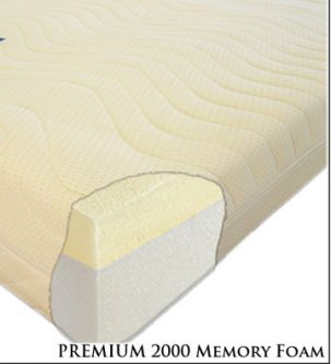 Premium 2000 Memory Foam Mattress 4ft6