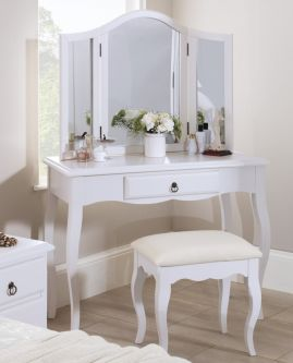 Romance Antique White Modern Dressing Table with Drawer