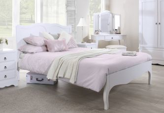 Romance true white king size bed