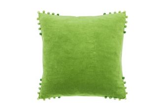 Walton & Co Velvet Cushion lime
