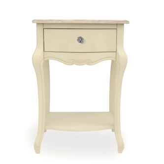 Juliette Champagne 1 Drawer Bedside Cabinet with Crystal Handle