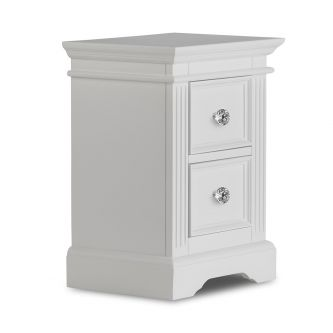 Gainsborough Bedside Table with Crystal Handles