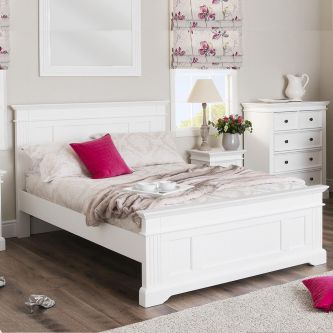White 5ft King Size Bed Frame