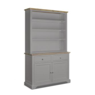 Large dresser with shelving in truffle for Kitchens and dining rooms.