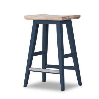 Bar stool in navy blue