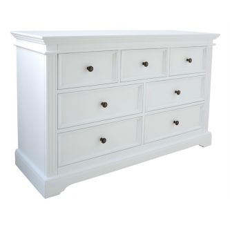 Gainsborough 7 Drawer Chest- White