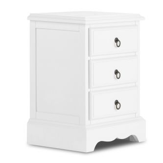 Romance true white bedside table