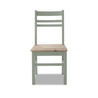 A  sage green country style kitchen and dining chair