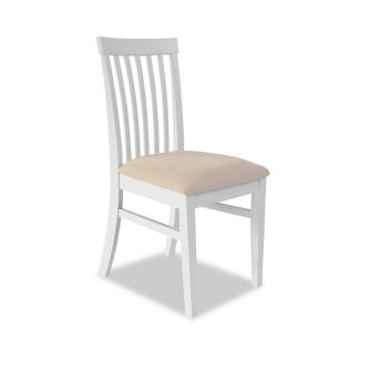 florence high back white upholstered chair