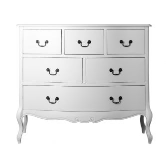 Shabby chic white chest of drawers